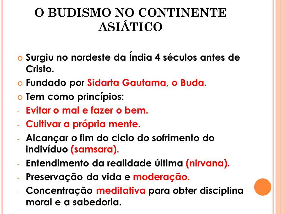 O BUDISMO NO CONTINENTE ASIÁTICO