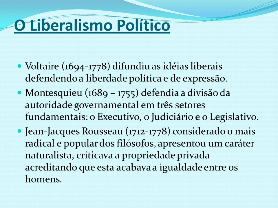 O Liberalismo Político