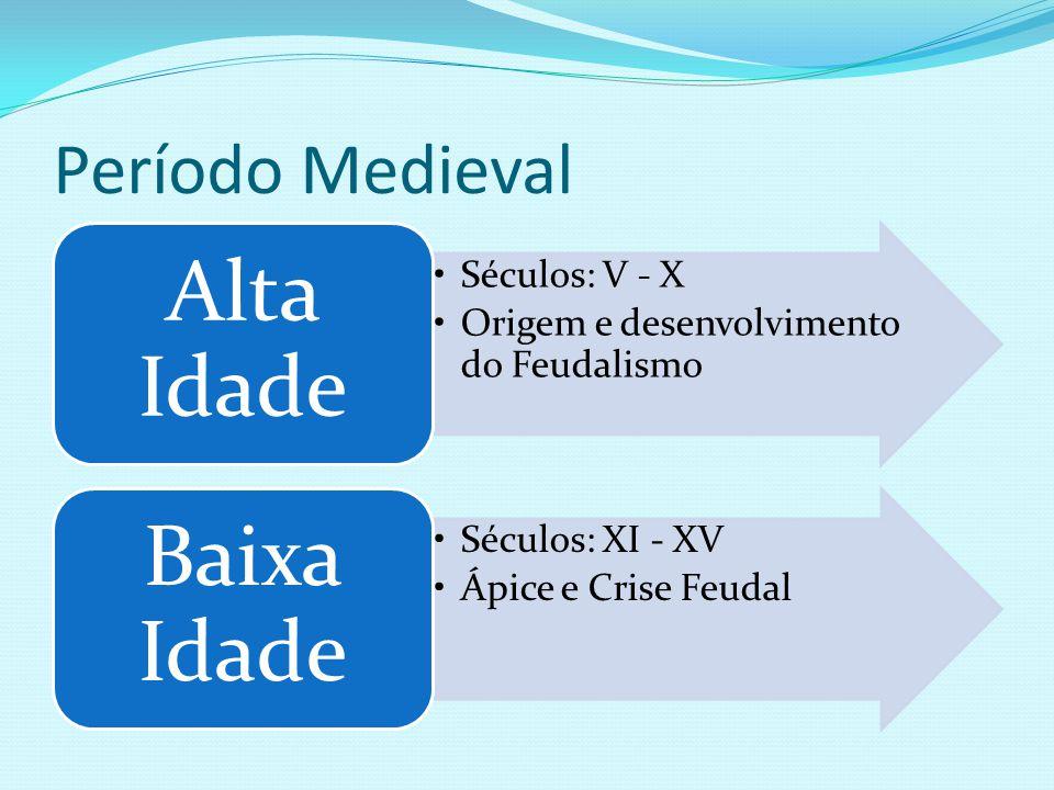Período Medieval Alta Idade Séculos: V - X