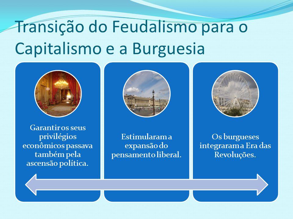 Transição do Feudalismo para o Capitalismo e a Burguesia