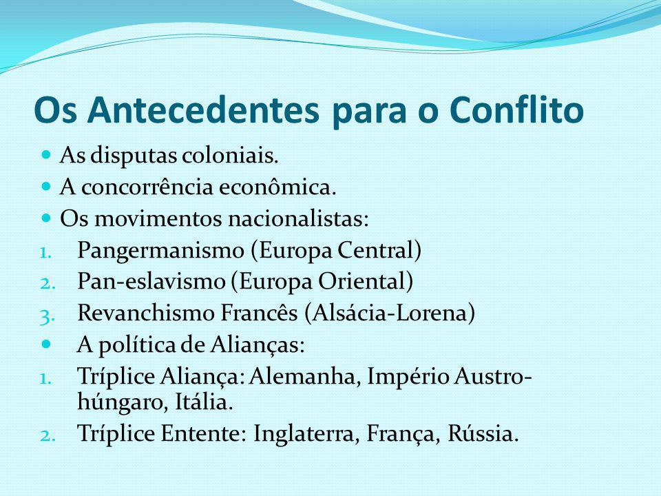 Os Antecedentes para o Conflito