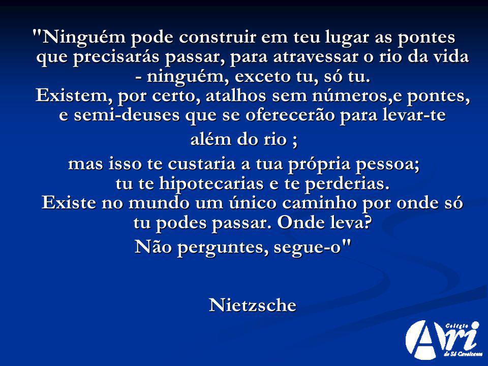 Não perguntes, segue-o Nietzsche