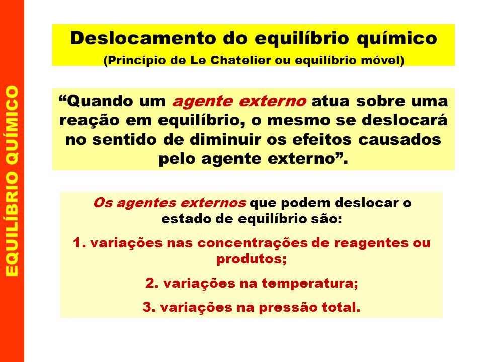 Deslocamento do equilíbrio químico (Princípio de Le Chatelier ou equilíbrio móvel)
