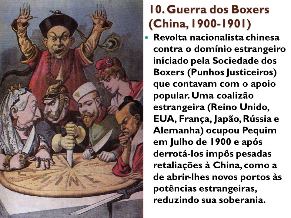 10. Guerra dos Boxers (China, 1900-1901)