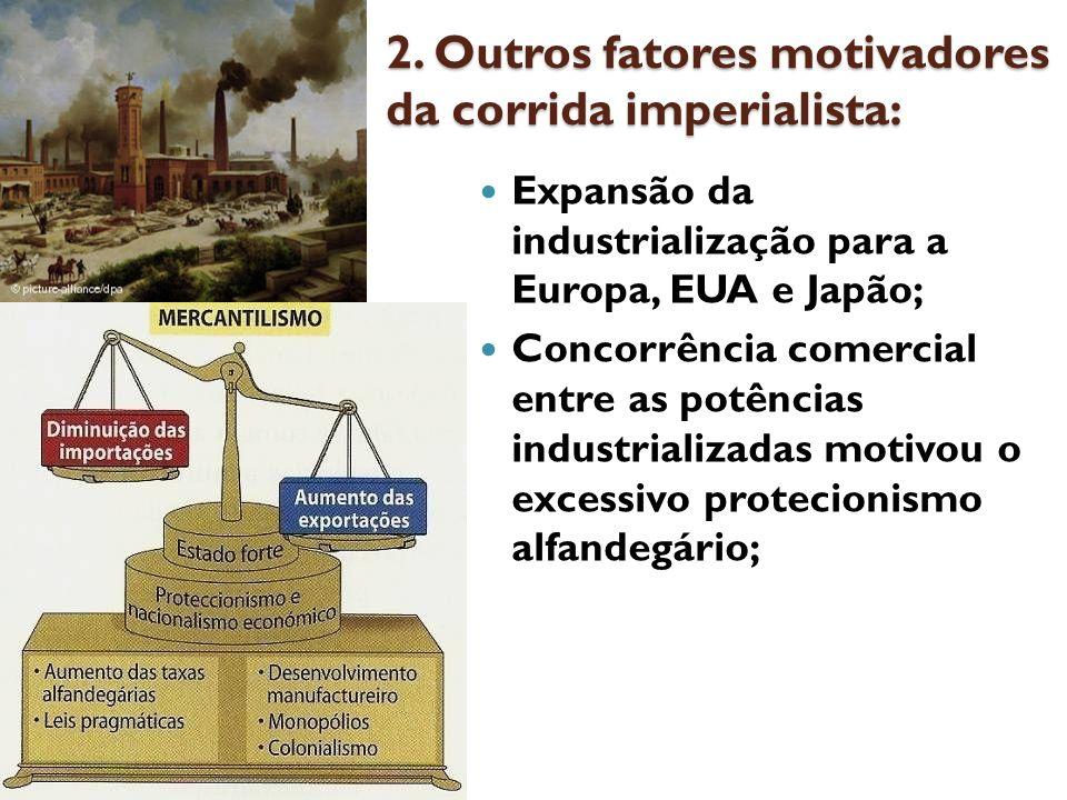 2. Outros fatores motivadores da corrida imperialista: