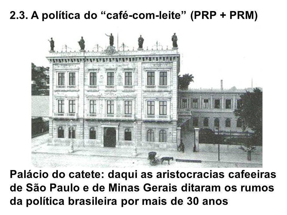 2.3. A política do café-com-leite (PRP + PRM)