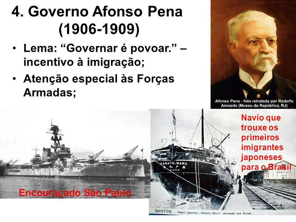 4. Governo Afonso Pena (1906-1909)