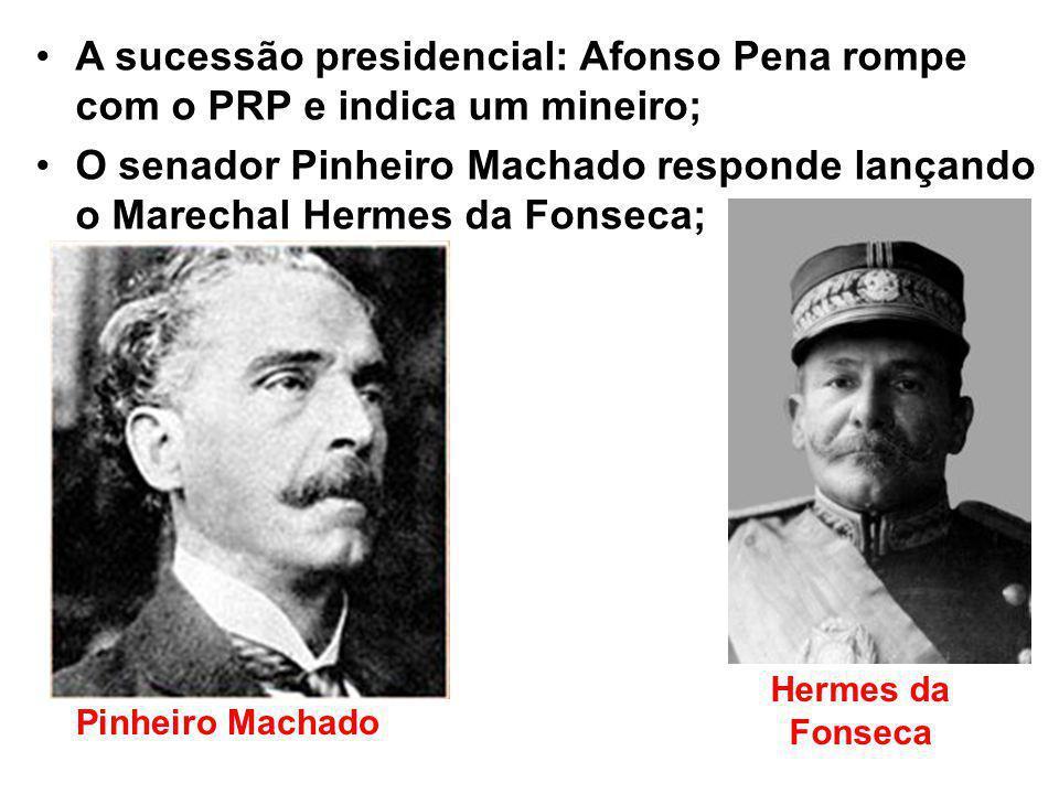A sucessão presidencial: Afonso Pena rompe com o PRP e indica um mineiro;