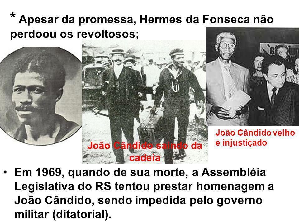 João Cândido saindo da cadeia