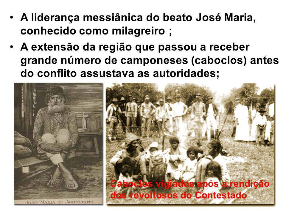 A liderança messiânica do beato José Maria, conhecido como milagreiro ;