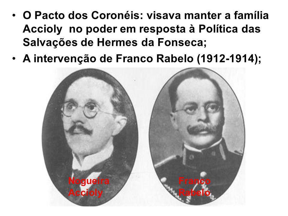 A intervenção de Franco Rabelo (1912-1914);