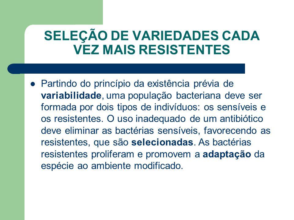 SELEÇÃO DE VARIEDADES CADA VEZ MAIS RESISTENTES