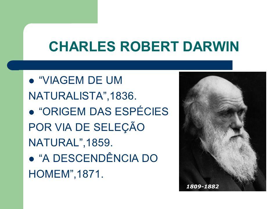 CHARLES ROBERT DARWIN VIAGEM DE UM NATURALISTA ,1836.
