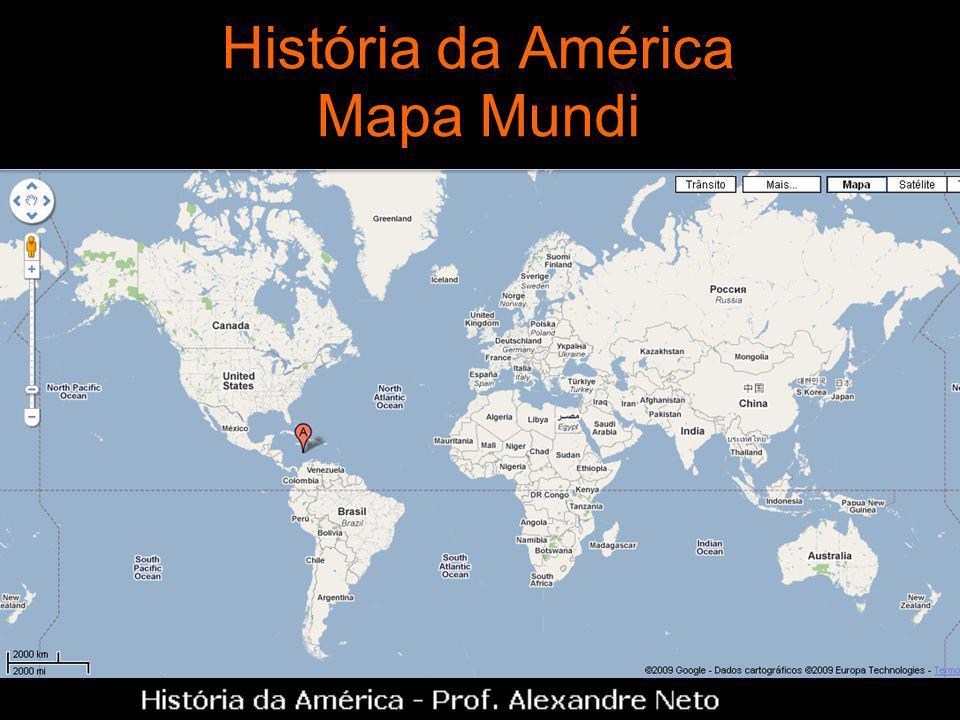 História da América Mapa Mundi