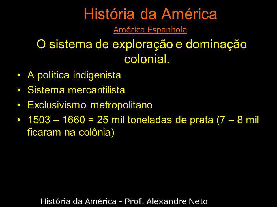 O sistema de exploração e dominação colonial.