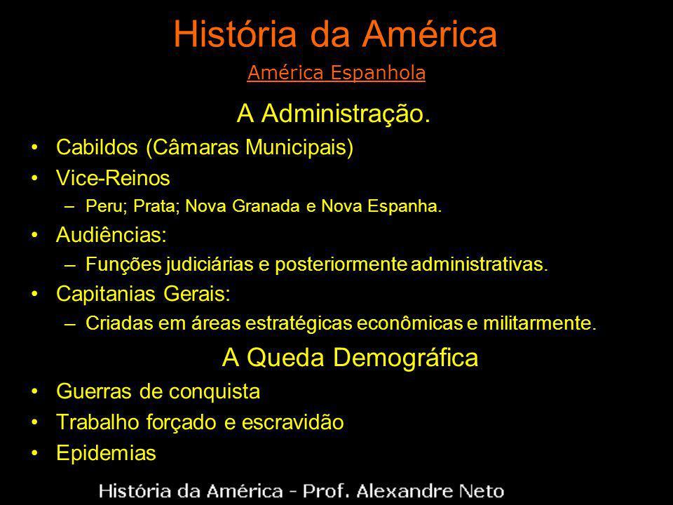 História da América A Administração. A Queda Demográfica