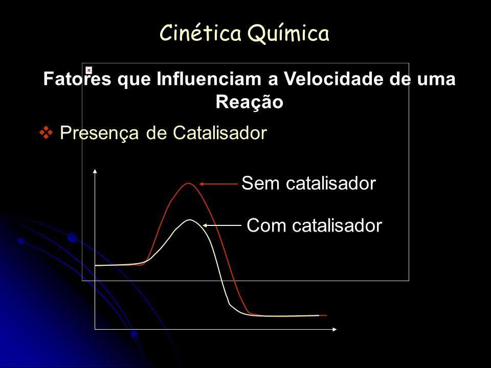 Fatores que Influenciam a Velocidade de uma Reação