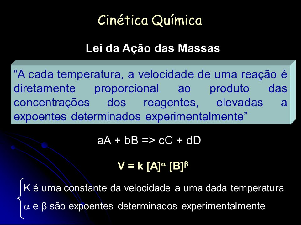 Cinética Química Lei da Ação das Massas