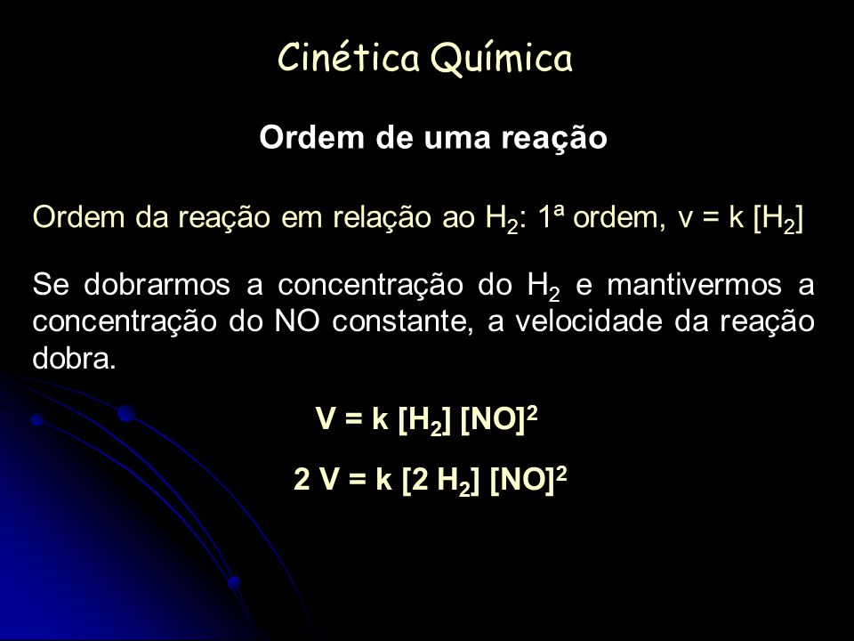 Cinética Química Ordem de uma reação
