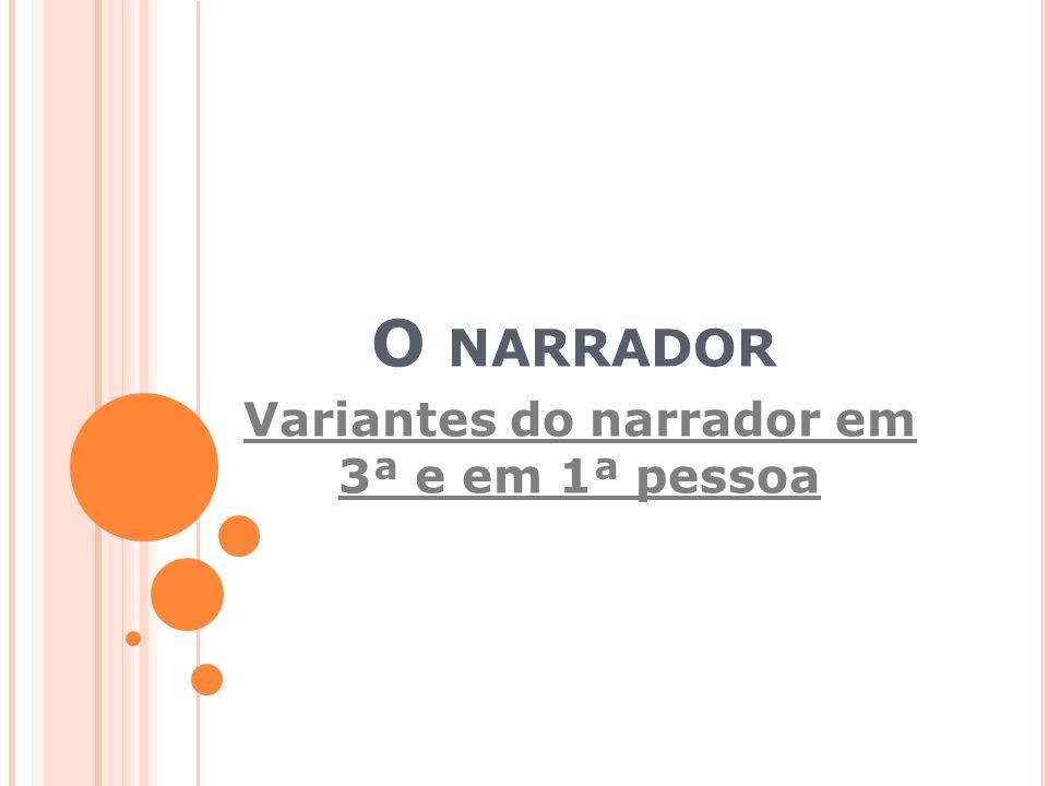 Variantes do narrador em 3ª e em 1ª pessoa