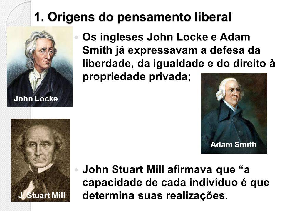 1. Origens do pensamento liberal