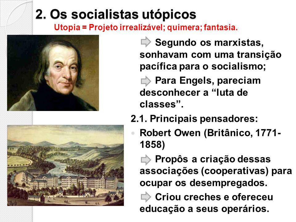 2. Os socialistas utópicos