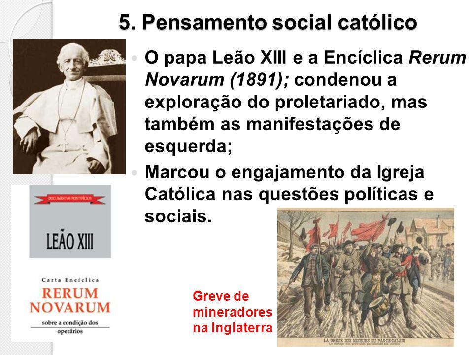 5. Pensamento social católico