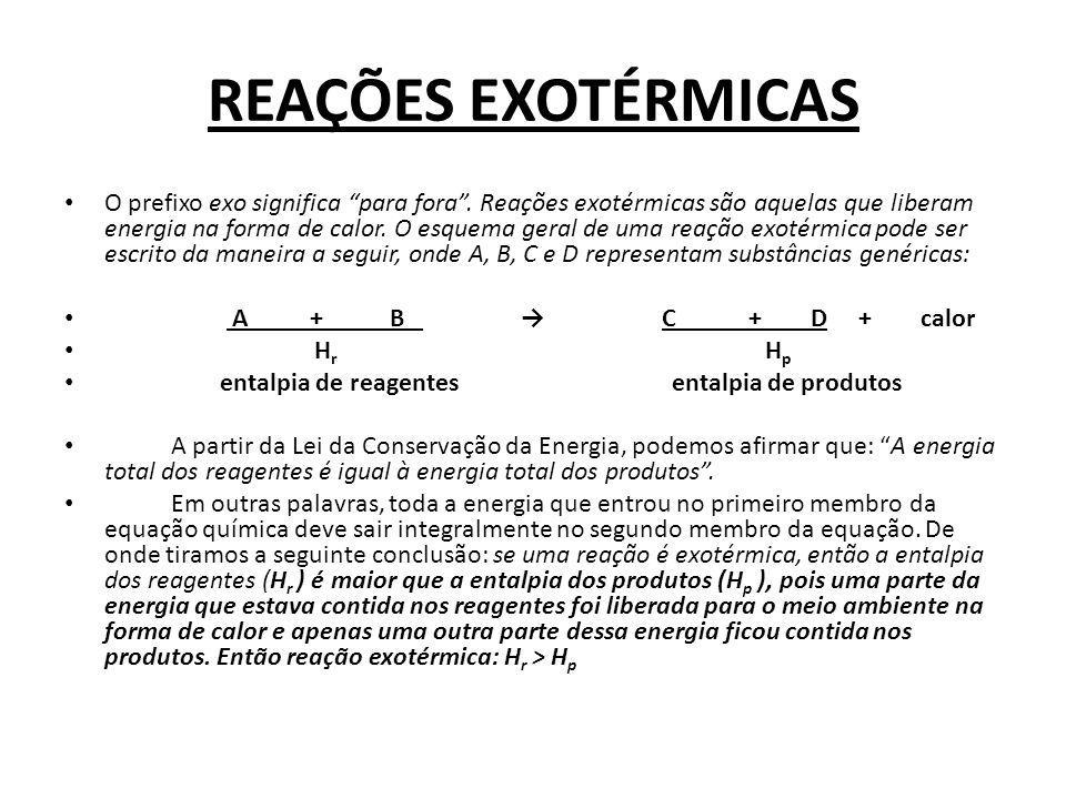 REAÇÕES EXOTÉRMICAS