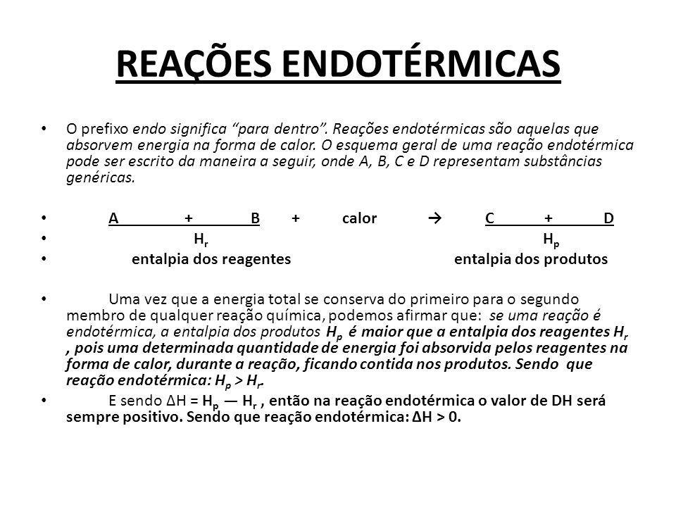 REAÇÕES ENDOTÉRMICAS