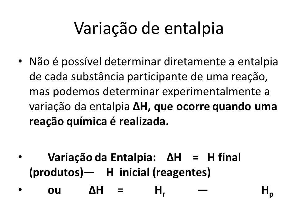Variação de entalpia