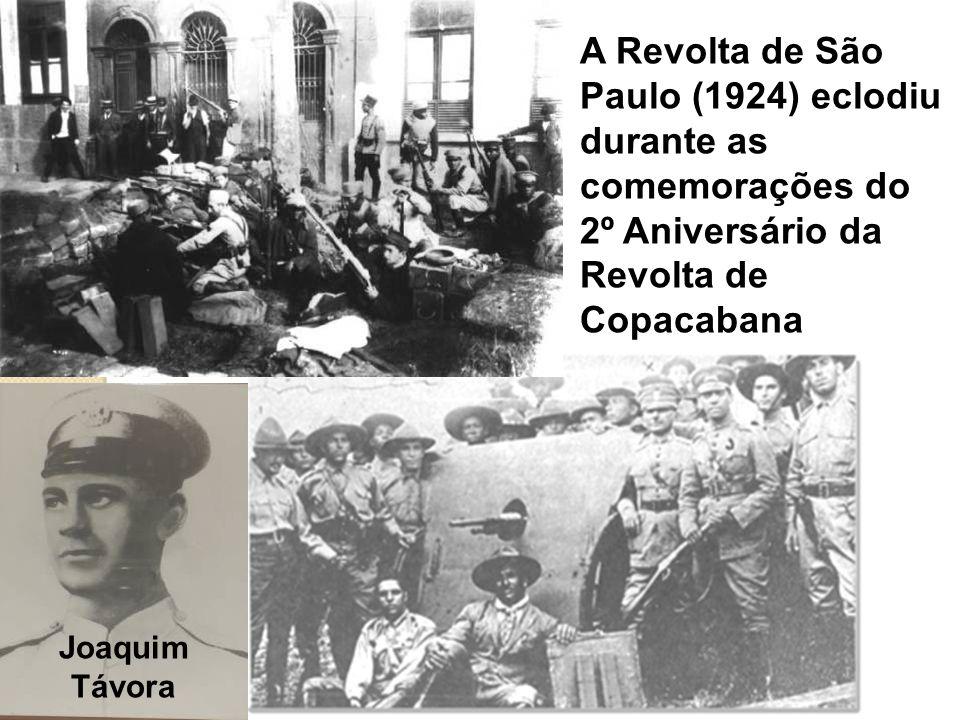 A Revolta de São Paulo (1924) eclodiu durante as comemorações do 2º Aniversário da Revolta de Copacabana