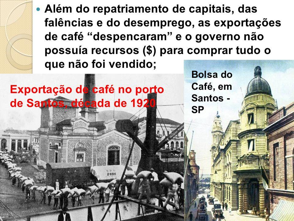 Exportação de café no porto de Santos, década de 1920