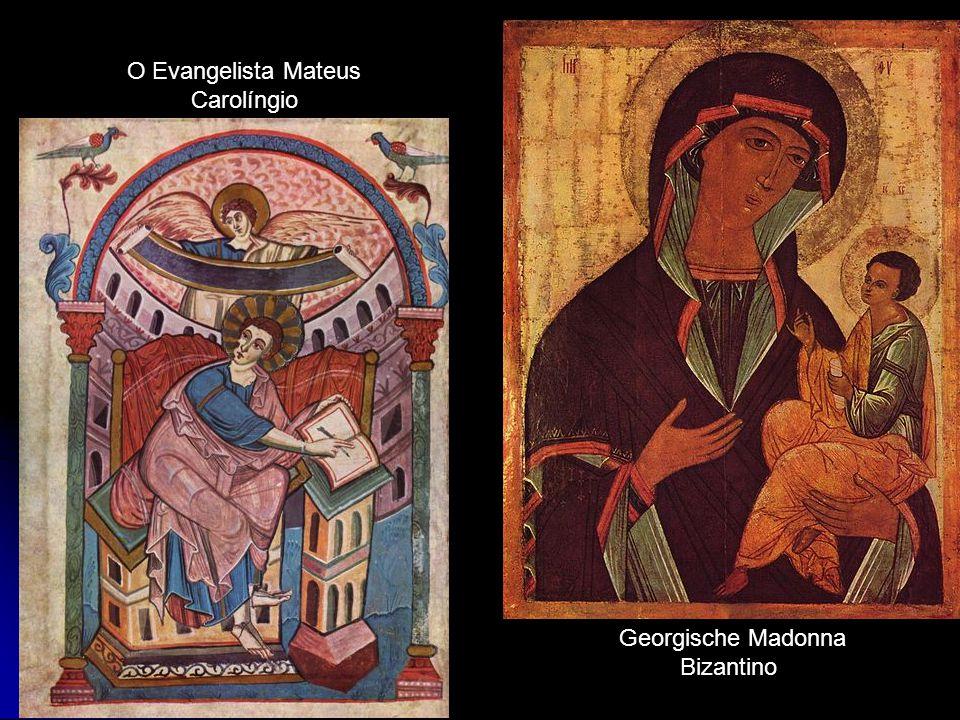 O Evangelista Mateus Carolíngio Georgische Madonna Bizantino