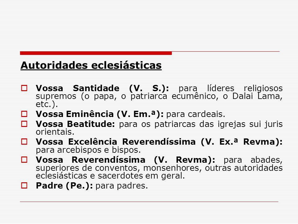 Autoridades eclesiásticas