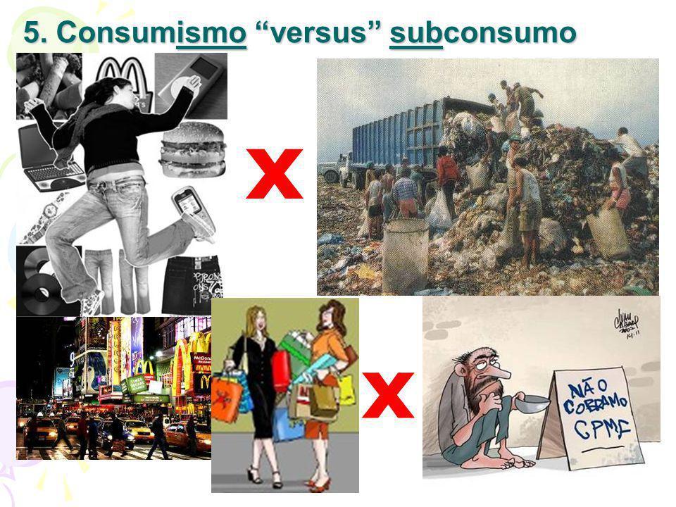 5. Consumismo versus subconsumo