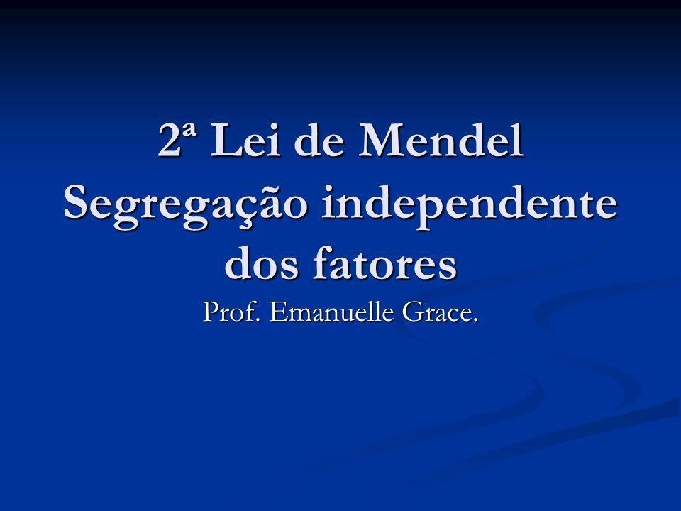2ª Lei de Mendel Segregação independente dos fatores