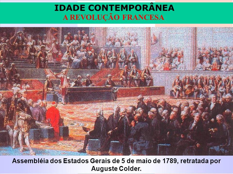 Assembléia dos Estados Gerais de 5 de maio de 1789, retratada por Auguste Colder.