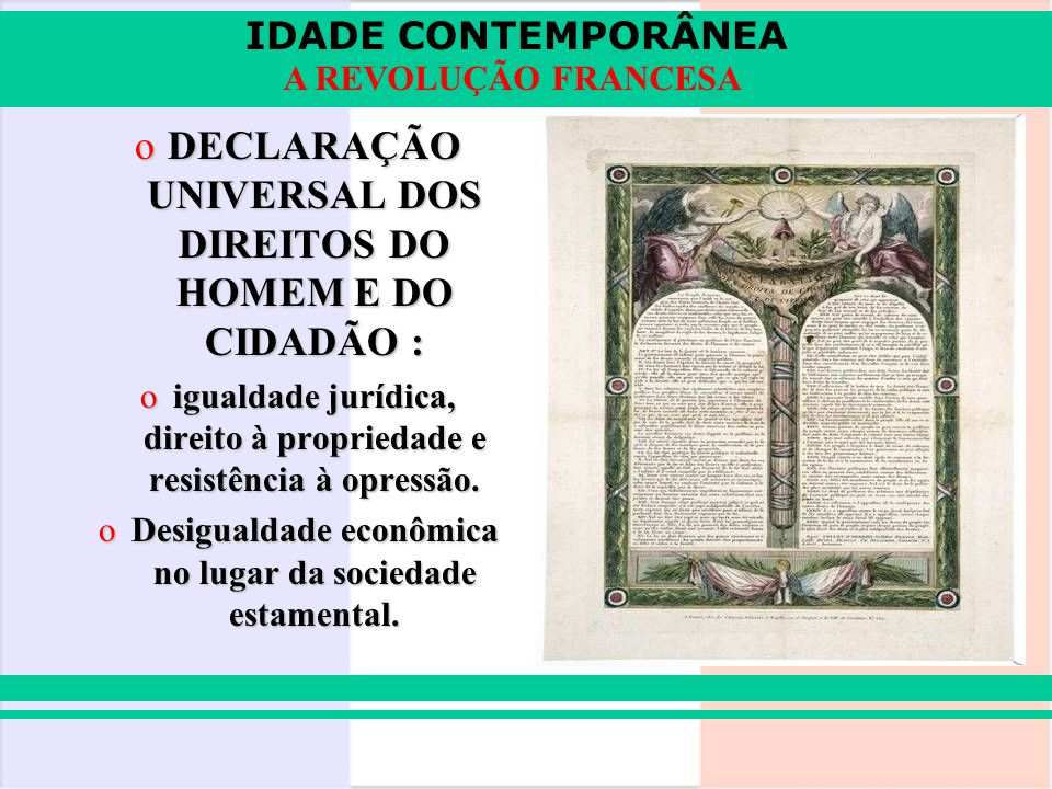 DECLARAÇÃO UNIVERSAL DOS DIREITOS DO HOMEM E DO CIDADÃO :