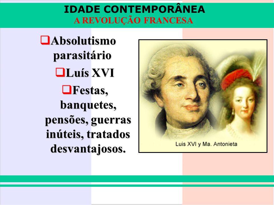Absolutismo parasitário Luís XVI