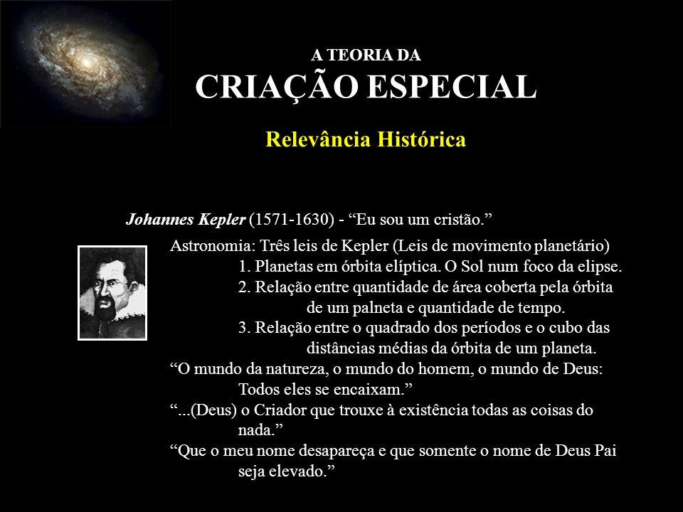 CRIAÇÃO ESPECIAL Relevância Histórica A TEORIA DA