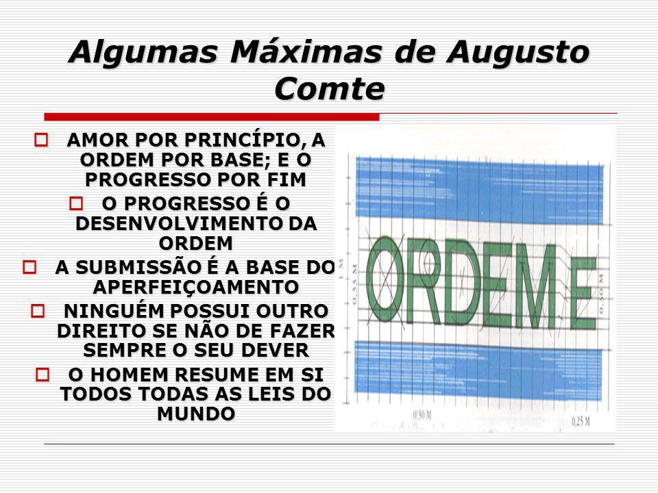 Algumas Máximas de Augusto Comte