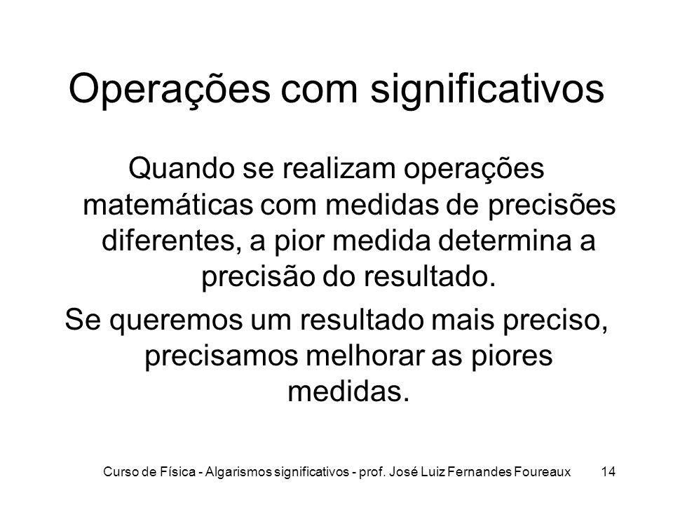 Operações com significativos