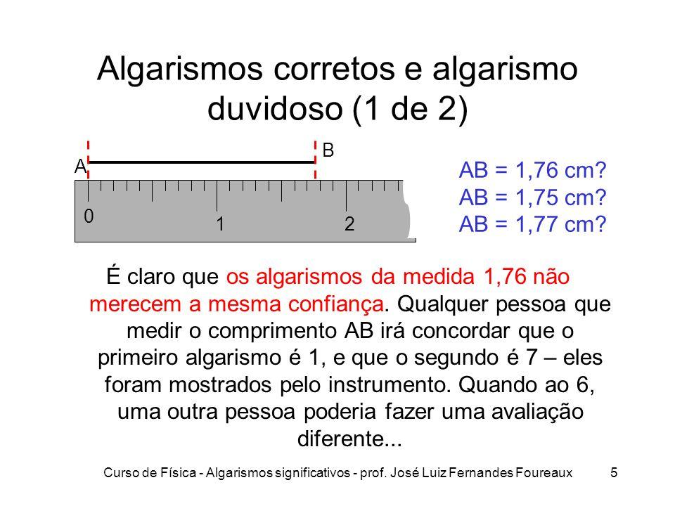 Algarismos corretos e algarismo duvidoso (1 de 2)