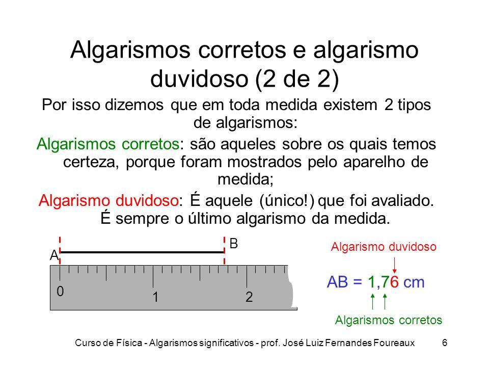 Algarismos corretos e algarismo duvidoso (2 de 2)