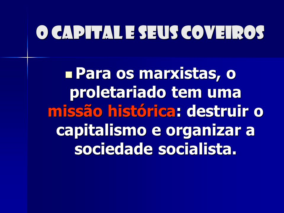 O capital e seus coveiros