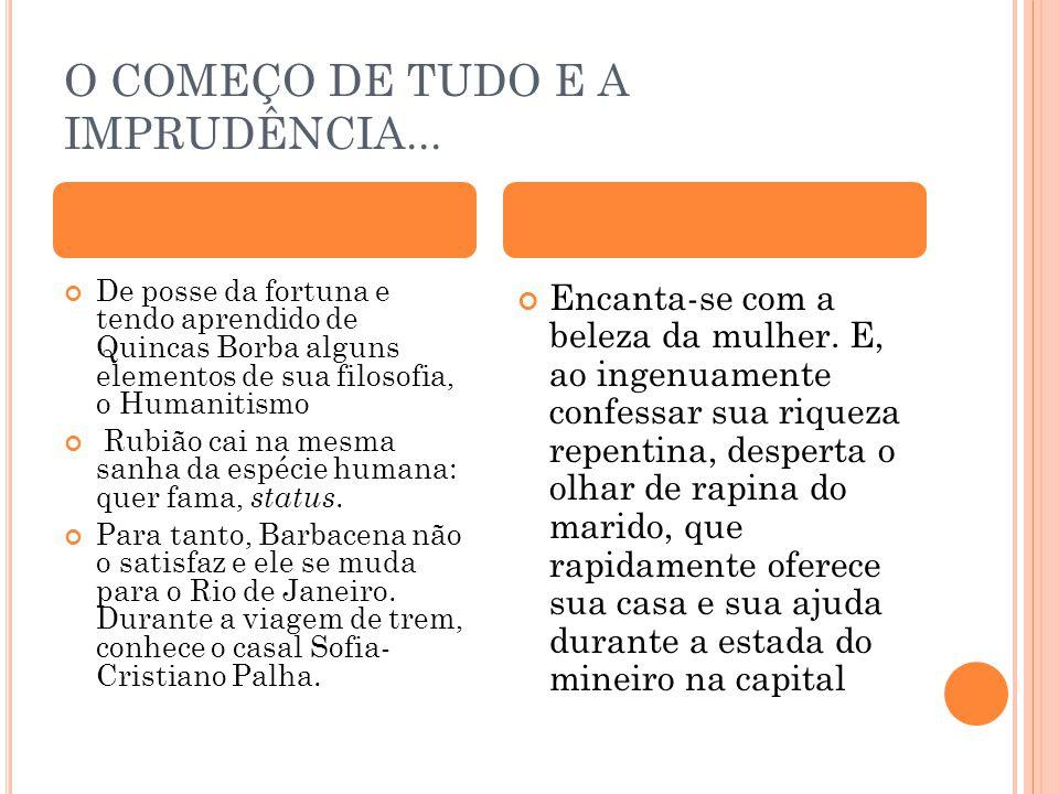 O COMEÇO DE TUDO E A IMPRUDÊNCIA...