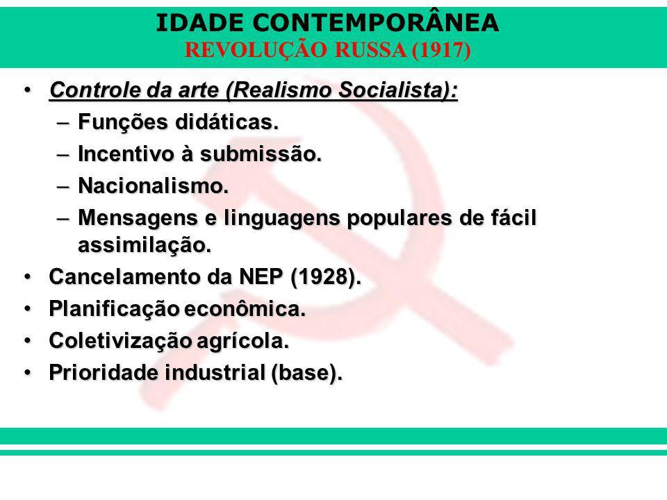 Controle da arte (Realismo Socialista):