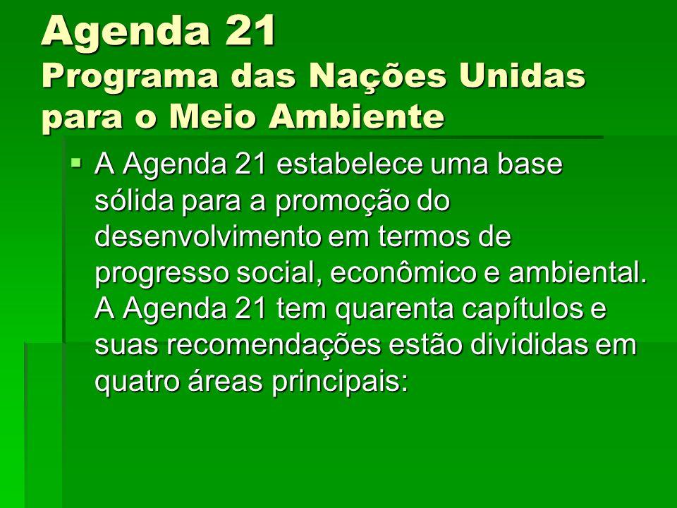 Agenda 21 Programa das Nações Unidas para o Meio Ambiente
