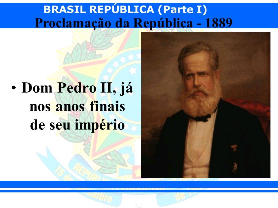 Dom Pedro II, já nos anos finais de seu império
