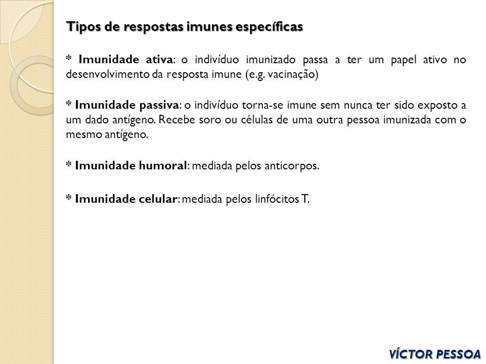 Tipos de respostas imunes específicas